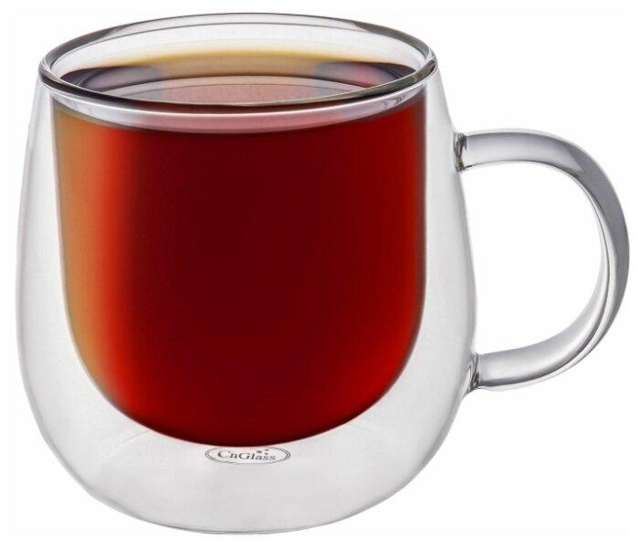 Кружка CnGlass стеклянная с двойными стенками для кофе и чая 290 мл B5-1 — купить по выгодной цене на Яндекс.Маркете