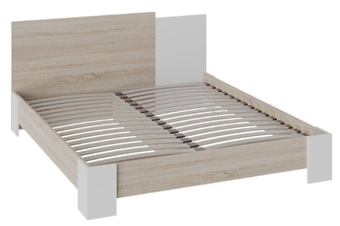 Купить Двуспальная кровать Валери (Дуб сонома/Белый ясень) по низкой цене с доставкой из Яндекс.Маркета