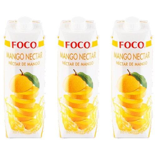 Нектар FOCO манго, 1 л, 3 шт. нектар удачный алычовый 1 л
