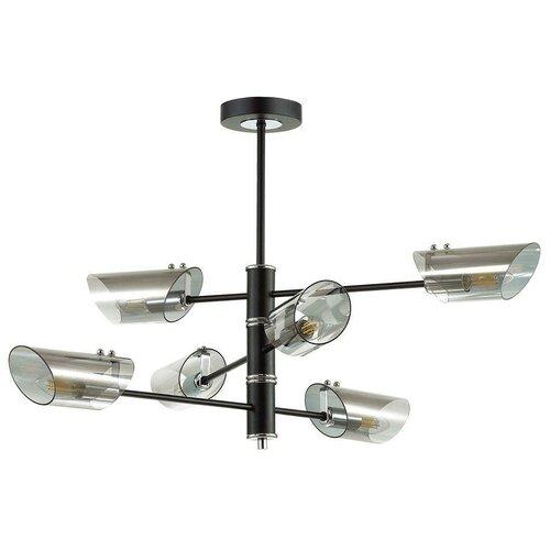 Люстра Lumion Nolan 4402/6C, E14, 240 Вт, кол-во ламп: 6 шт., цвет арматуры: хром, цвет плафона: серый люстра lumion nolan 4402 4c 160 вт