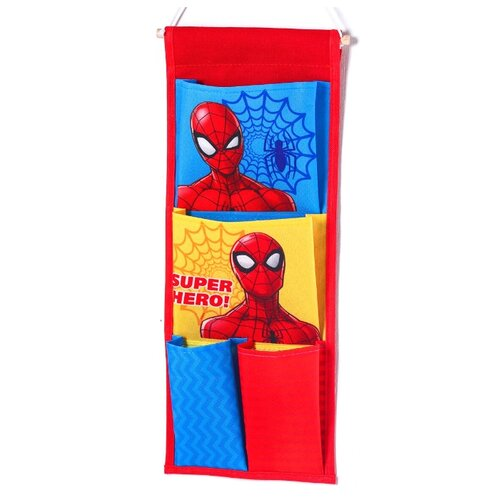 Фото - Ukid MARKET / Органайзер для одежды / Кармашки настенные Человек-паук, 45х18 см ukid market органайзер для одежды кармашки настенные человек паук 45х18 см