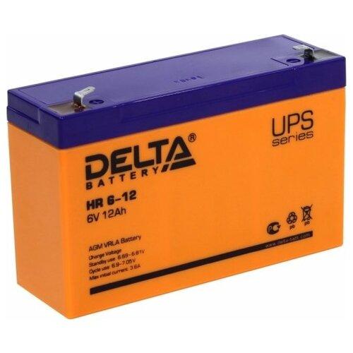 Фото - Аккумуляторная батарея DELTA Battery HR 6-12 12 А·ч аккумуляторная батарея delta battery gel 12 33 33 а·ч