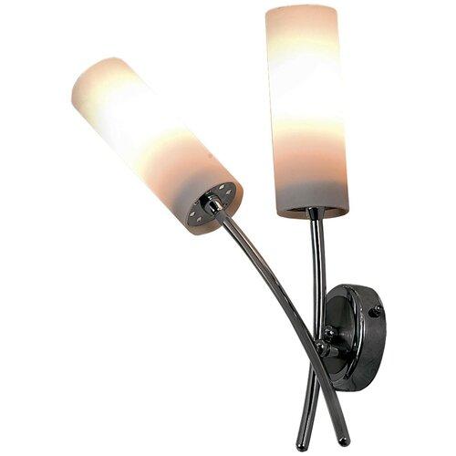Настенный светильник Citilux Новелла CL122321, E14, 120 Вт, кол-во ламп: 2 шт., цвет арматуры: серебристый, цвет плафона: белый настенный светильник citilux медея cl436321 120 вт
