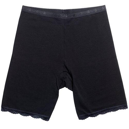 Pompea Трусы панталоны с высокой талией Ingrosso P1/28 с кружевной каймой, размер 5XL (9), черный