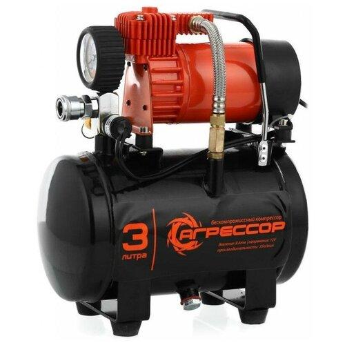 Автомобильный компрессор Агрессор AGR-3LT черный/оранжевый