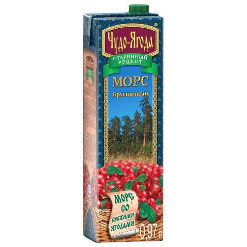 Фото - Морс Чудо-Ягода Брусника, с крышкой, 0.97 л морс клюквенный чудо ягода 970 мл