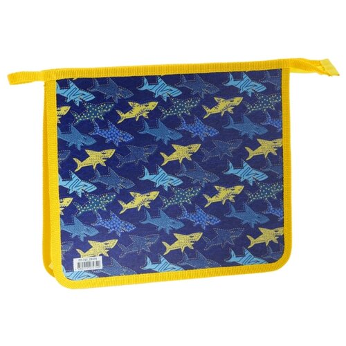 Купить ArtSpace Папка для тетрадей Shark А5, на молнии, пластик синий, Файлы и папки
