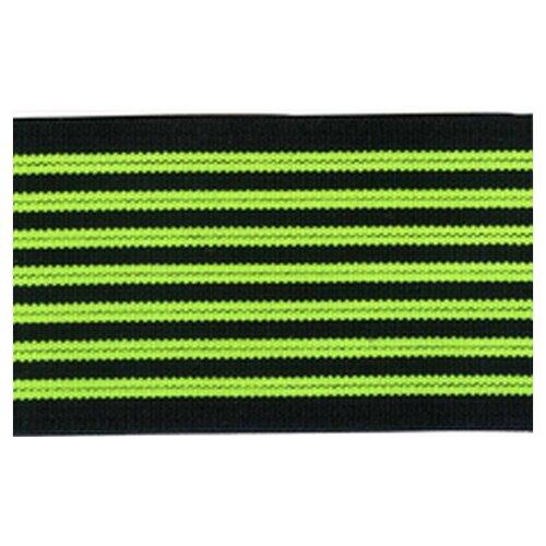 Купить Резинка неоновая, 50 мм, цвет зеленый с черным 83 % полиэстр, 17% латекс, PEGA, Технические ленты и тесьма