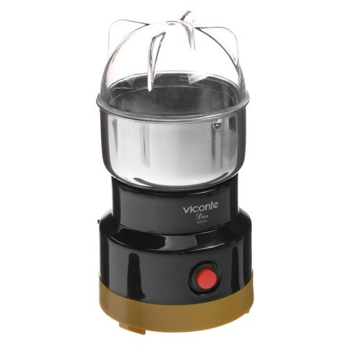 Кофемолка Viconte VC-3107, черный/бежевый