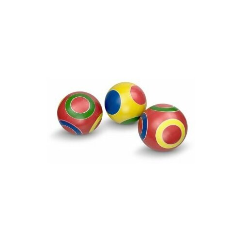 Мяч детский кружочки, 12, 5 см, Мячи-Чебоксары, Р3-125