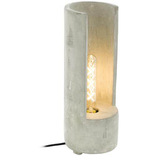 Лампа декоративная Eglo Lynton 49112, E27, 60 Вт, цвет арматуры: серый, цвет плафона/абажура: серый настольная лампа eglo almera 89116 60 вт