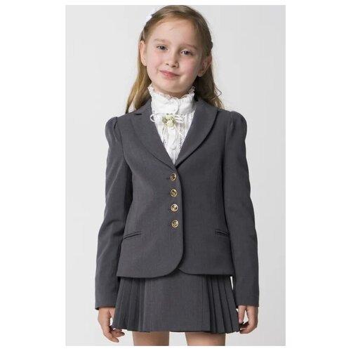 Купить Жакет Маленькая Леди размер 170, серый, Жакеты