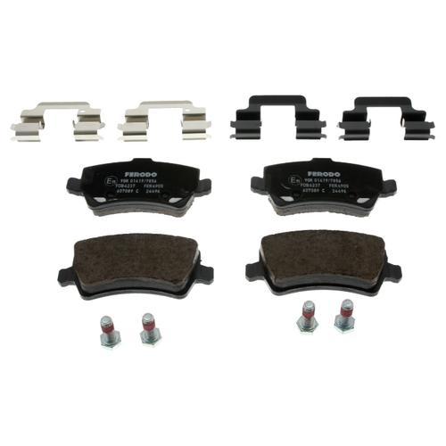 Фото - Дисковые тормозные колодки задние Ferodo FDB4237 для Land Rover, Volvo (4 шт.) дисковые тормозные колодки задние nibk pn1243 для toyota land cruiser prado 4 шт