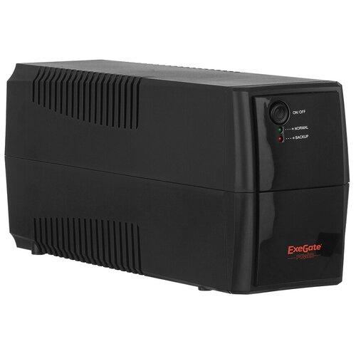 Интерактивный ИБП ExeGate Power Back BNB 600 black