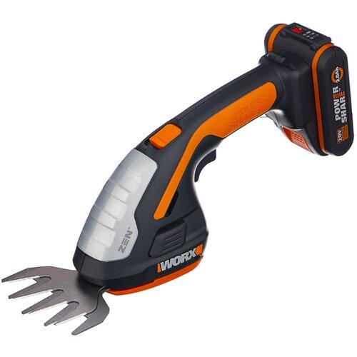 Фото - Ножницы-кусторез аккумуляторный Worx WG801E 20 см ножницы кусторез бензиновый echo hcr 165es 64 см