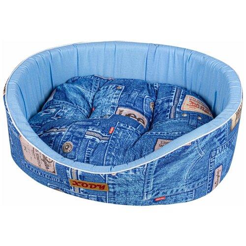 Фото - Лежак для собак и кошек XODY Премиум Джинс №1 (02613-4) 42х35х16 см синий домик для собак и кошек xody эстрада джинс 1 хлопок 41 х 36 х 30 см 1 шт