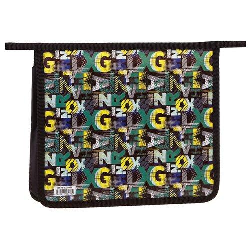 Купить ArtSpace Папка для тетрадей Pattern А5, 2 отделения, на молнии, пластик черный/желтый/зеленый, Файлы и папки