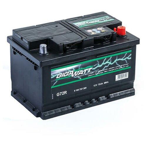 Автомобильный аккумулятор GigaWatt G72R (572 409 068) 72 Ач, обратная полярность