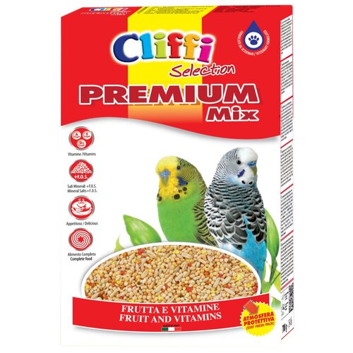 Cliffi корм Selection Premium Mix Pappagallini для волнистых попугаев 800 г