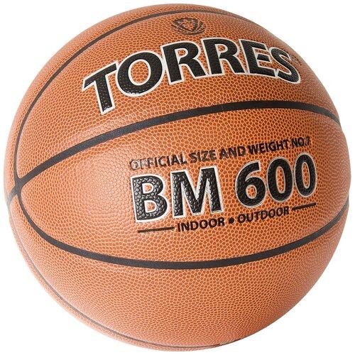 Мяч баскетбольный TORRES BM600, р.7 (B32027)