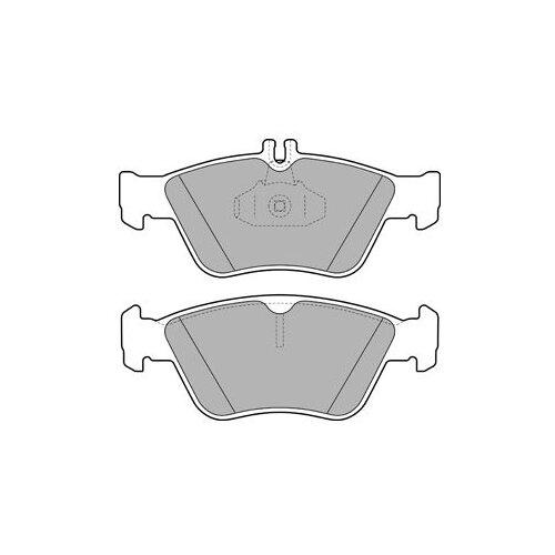 Дисковые тормозные колодки передние DELPHI LP1588 для Mercedes-Benz CLK-class, Mercedes-Benz E-class, Mercedes-Benz C-class (4 шт.) mercedes benz c class w111 w112 59