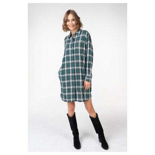 Платье Marc O'Polo 107221349/Z95 женское Цвет Зеленый Z95 Клетка р-р 40 34 фото