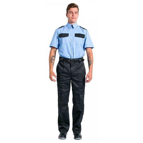 Фото - Рубашка охранника с коротким рукавом мужская, голубой (размер 37; 170-176) сорочка мужская vester 68814 41s 170 176