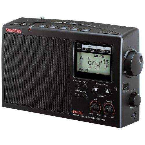 Радиобудильник Sangean PR-D3 black