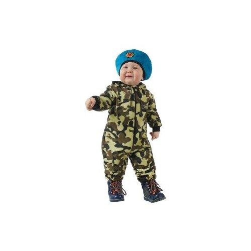 Купить Костюм Страна Карнавалия Камуфляжный с беретом (1267942/1267943/2124902), зелeный, размер 80, Карнавальные костюмы