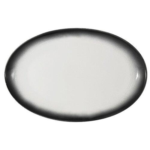 Тарелка овальная Икра, 25х16 см, гранит, Maxwell & Williams