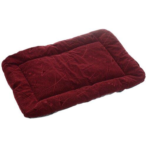 Лежак для собак и кошек Зоо Марк Матрас №4 50х70х4 см бордовый