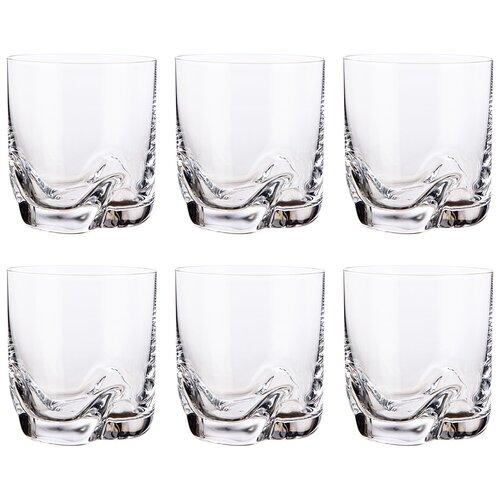 Набор стаканов для воды/виски из 6 штук трио 280мл Bohemia crystal (674-783)