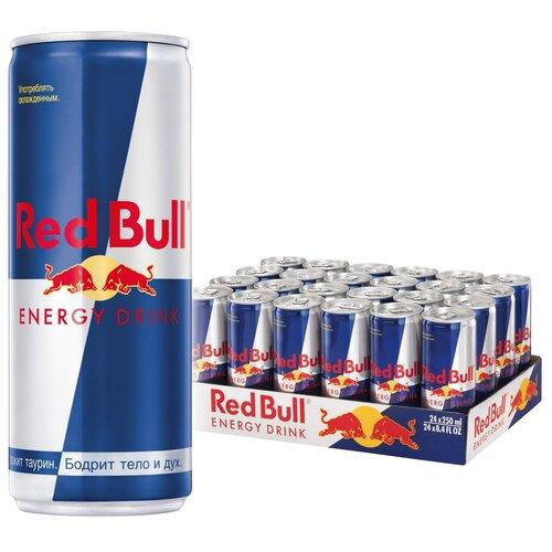 Фото - Энергетический напиток Red Bull, 0.25 л, 24 шт. энергетический напиток solar power 0 45 л 6 шт