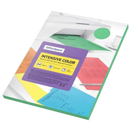 Бумага OfficeSpace A4 Intensive Color 80 г/м2 100 листов, зелeный