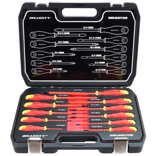 Набор отверток HASKYY ESS-20 для электрика (11 предметов)
