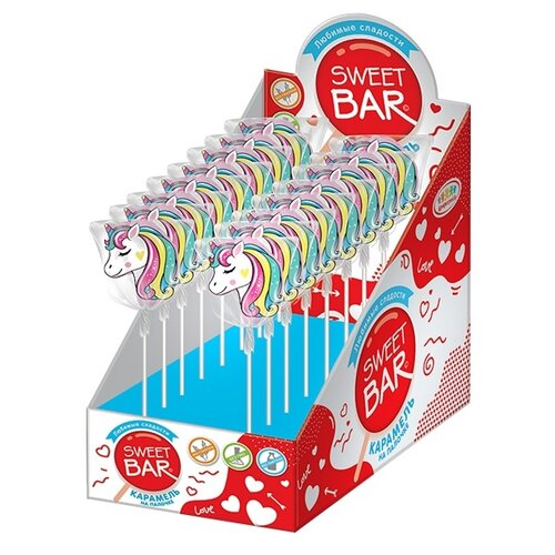 Фото - Карамель Sweet Bar на палочке Единорог, 20 шт. карамель на палочке мороженое 10г конфитрейд