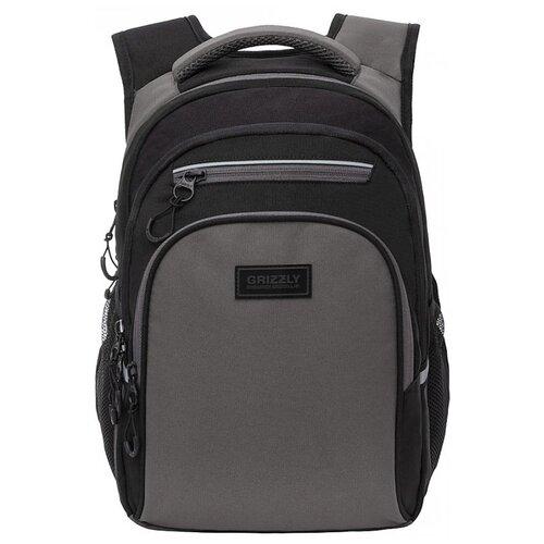 Купить Grizzly Рюкзак (RB-150-4), черный/серый, Рюкзаки, ранцы