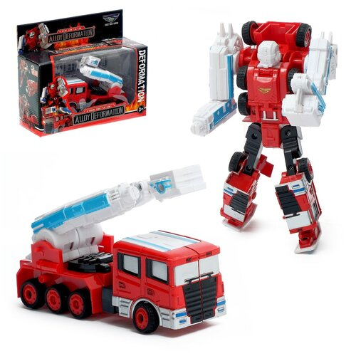 Купить Робот - трансформер Пожарный , с металлическими элементами 4376182, Сима-ленд, Роботы и трансформеры