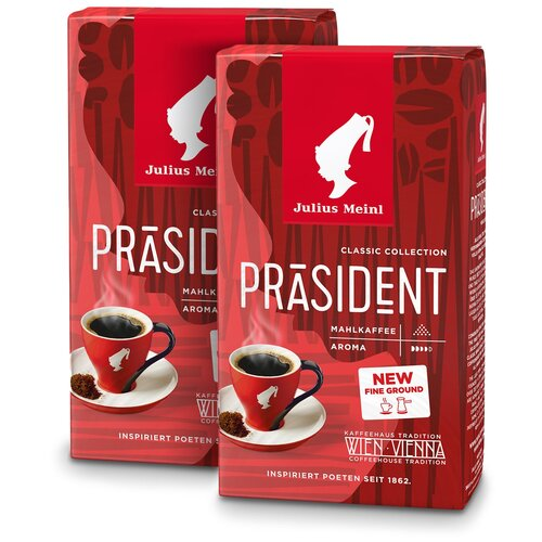 Фото - Президент Классическая Коллекция, кофе молотый, 250 г (1+1) кофе молотый julius meinl юбилейный 250 г