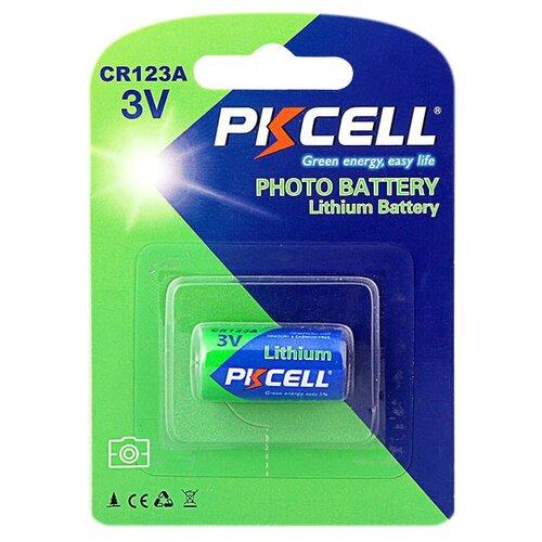 Фото - Элемент питания PKCELL CR123A-1B аккумулятор для фонарика surefire sf123a cr123a