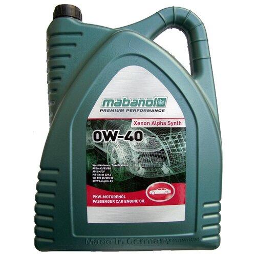 Синтетическое моторное масло Mabanol Xenon Alpha Synth 0W-40 5 л