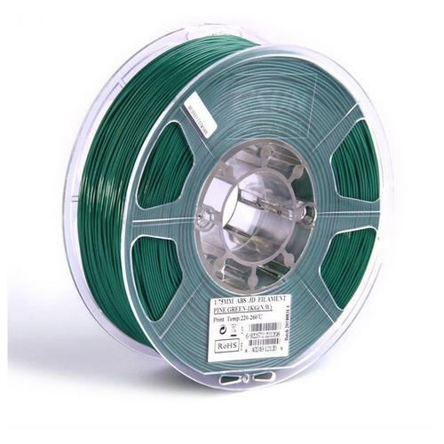 Филамент eSun ABS+ (пластиковая нить АБС+) для 3D принтеров Anycubic, Anet, Wanhao, Ender и др, 1.75 мм, темно-зеленый, 1 кг, ABS+175PG1
