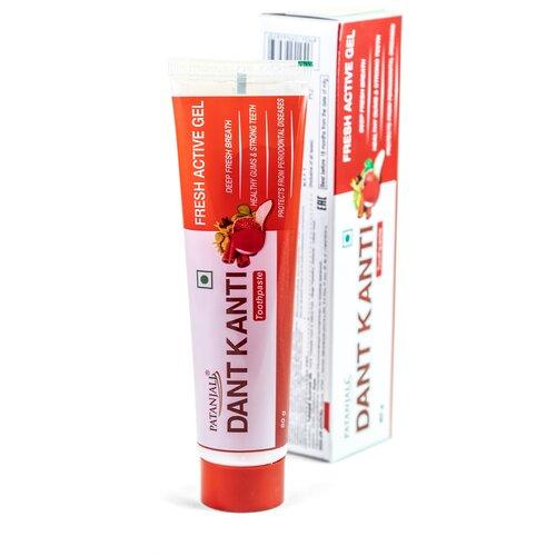 Зубная паста Patanjali Dant Kanti Fresh Active Gel, 80 г