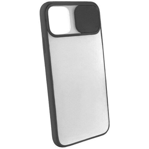 Защитный чехол с защитой камеры для iPhone 11 Pro Max / на Айфон 11 Про Макс / бампер / накладка на телефон / Черный