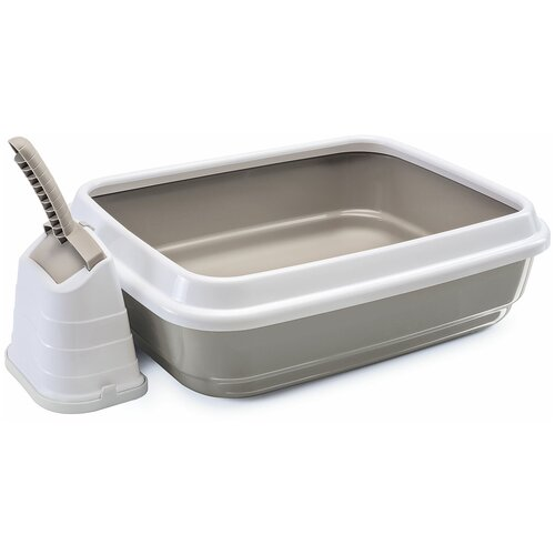 Туалет-лоток для кошек Imac Duo 48х40х15 см серый 1 шт.