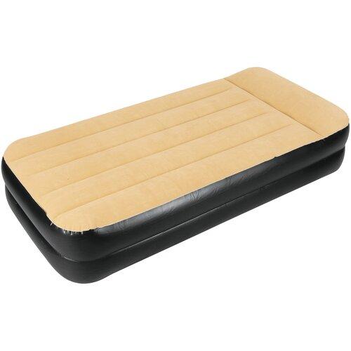 Надувная кровать Jilong Twin (JL027236NG) бежевый/черный