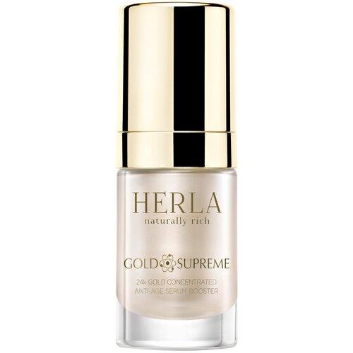 HERLA Концентрированная омолаживающая сыворотка для лица Золото Gold Supreme 24k gold concentrated anti-age serum booster, 15 мл