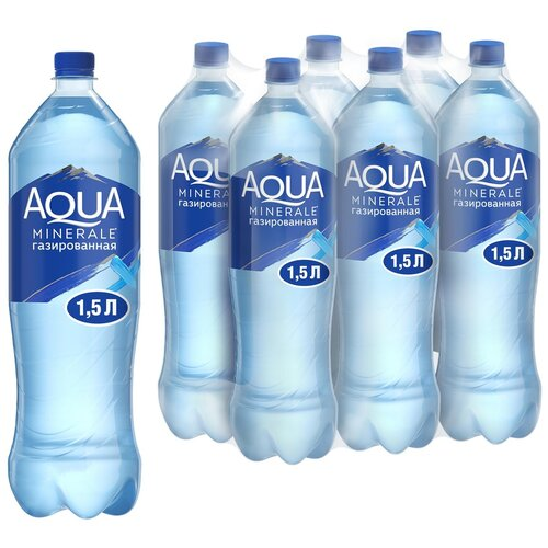 Фото - Вода питьевая Aqua Minerale газированная, ПЭТ, 6 шт. по 1.5 л вода питьевая aqua minerale негазированная 2 л