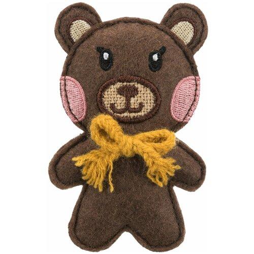Игрушка Медведь, ткань, с кошачьей мятой, 10 см, Trixie (игрушка для кошек, 45535) trixie trixie набор мышек для кошек 5 см с мятой 6 шт