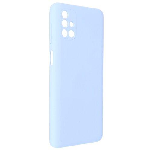 Чехол Pero для Samsung M51 Liquid Silicone Light Blue PCLS-0043-LB
